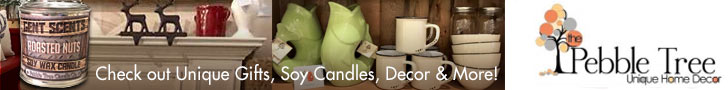 Midland Ontario's Pebble Tree - Home Decor items, Jewelry featuring Soy Wax Candles